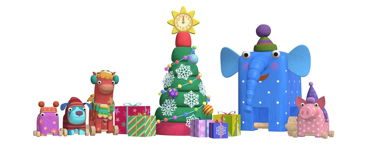 Праздничные персонажи из мультфильма «Деревяшки»