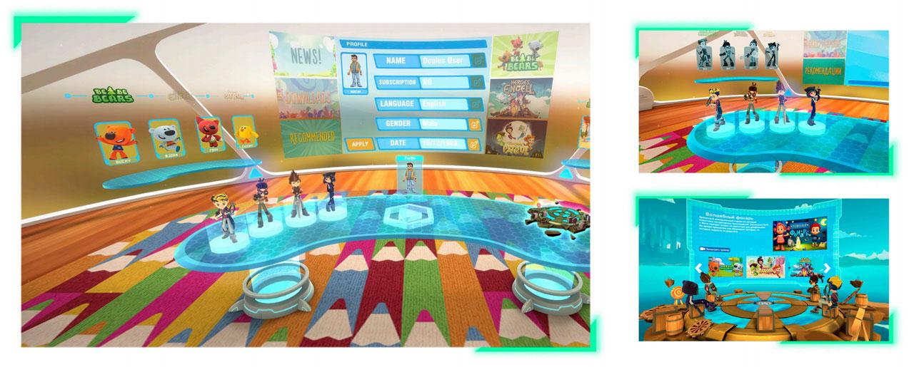 Интерфейс выбора персонажей и локаций