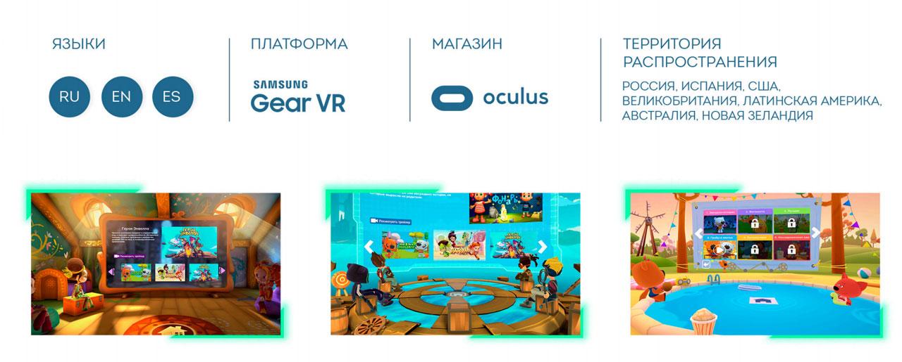 Технические характеристики приложения «Мульт VR»