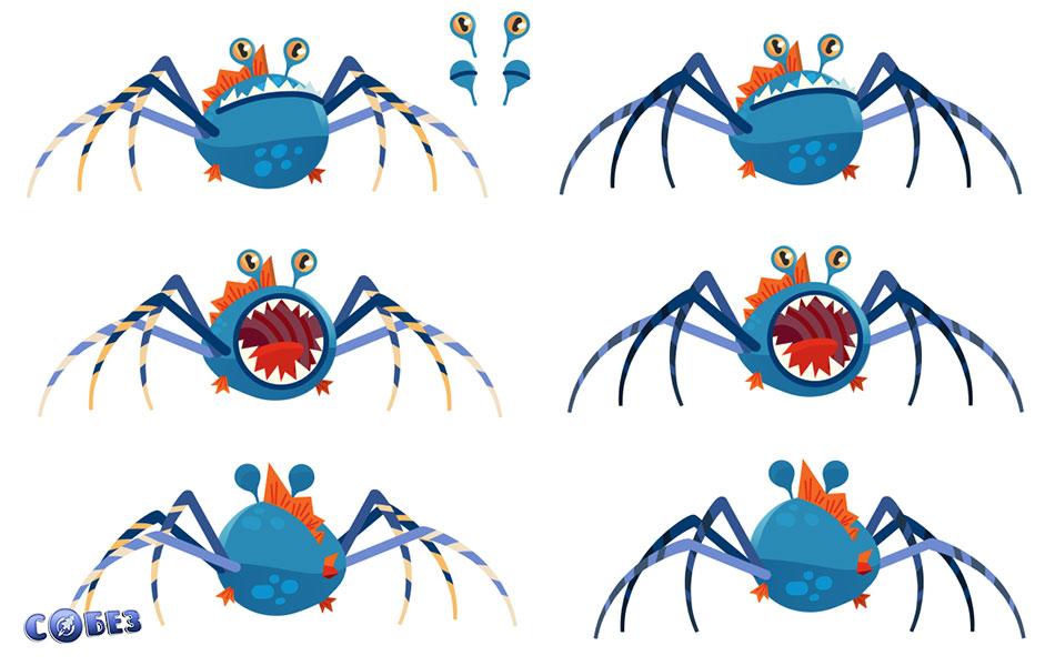 Концепт-арт паука после химического воздействия