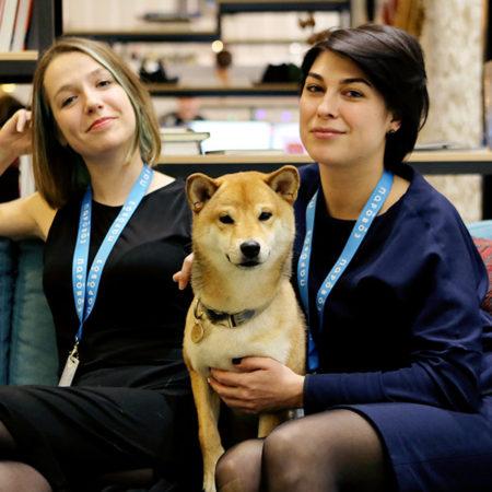 Гатти, Ксю и Мару - координаторы в студии «Паровоз»