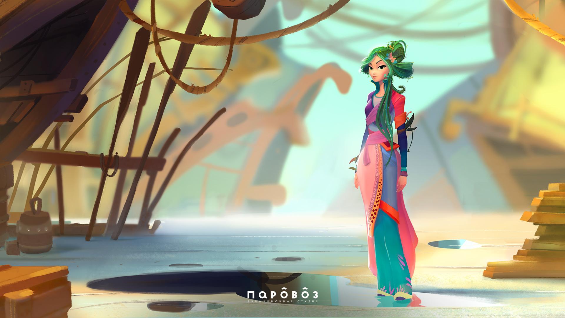 Настоящая история Кощея от анимационной студии Паровоз • Концепт девушки